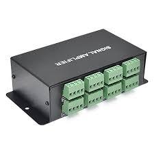 programmable led light strips dc12v 8 channel spi signal output data signal amplifier for
