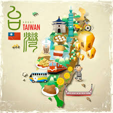 Taiwan Map Asia by Lovely Taiwan Landmarks And Snacks Map In Flat Style Royalty Free
