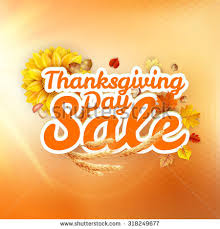 thanksgiving day sale headline template eps stock vector 318249656