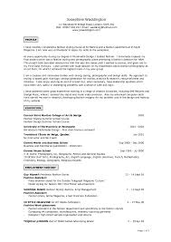 Resume Example Templates Fashion Designer Resume Sample Attractive Design Ideas Ui