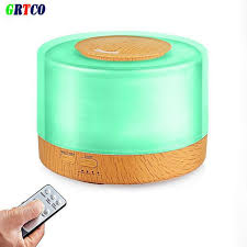 mist humidifier air ultrasonic humidifiers aroma essential grtco 500ml essential oil diffuser wood grain base aroma air
