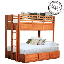 Pine Drawers Twin Over Full Bunk Bed W 6 Drawers Pine