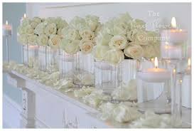 Flowers With Vases Pure White Wedding Flowers The Fine Flower Company