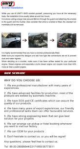 atv accessories 4x4 snorkel diesel pickup for toyota hilux vigo