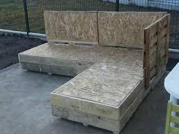 canapé exterieur palette salon de jardin palette beau salon de jardin palette en bois sur