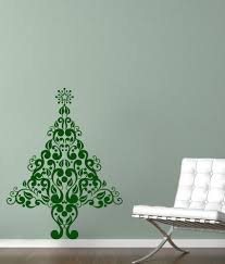 chipakk green christmas tree motif wall sticker medium buy