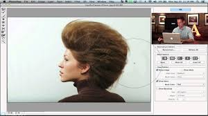 shape hair using the liquify tool in photoshop youtube