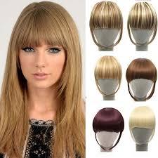 hair clip poni gaya rambut baru klip di poni palsu ekstensi rambut hairpieces