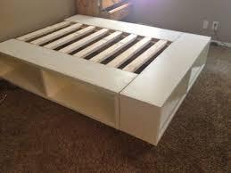 charming platform bed frame full with enchanting full size