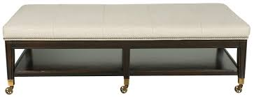 Long Ottoman Furniture Long Upholstered Ottoman With Wheels And Open Storage
