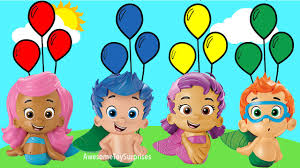 bubble guppies learn colors coloring page fun balloon activity