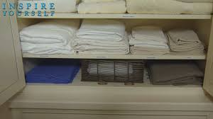 diy linen closet organization youtube