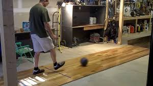 practice bowling at home basement bowling hit your mark homemade