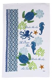 kay dee designs sea turtle terry kitchen towel one size jet com