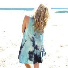 blue tie dye tee shirt material shift dress