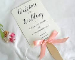 Fan Style Wedding Programs Wedding Program Fan Etsy