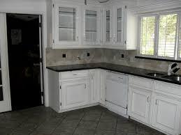kitchen blue grey backsplash white kitchen with tiles