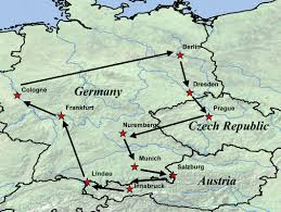 map germany austria study abroad 2011 germany republic and austria