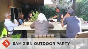 sam the cooking guy hosts a backyard party youtube