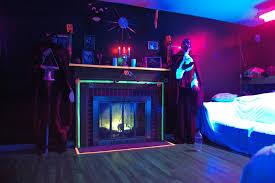 blacklight bedroom halloween party blacklight glow room the euclid boo blog tripy