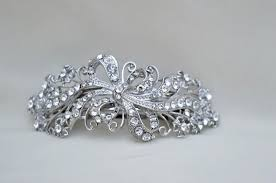 barrette clip rhinestonel hair clip barrette bridal hair clip special