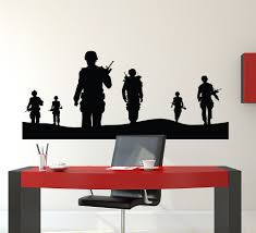 online shop army solider wall decal home decor vinyl poster