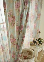 Country Living Curtains Color Jacquard And Printing Floral Country Living Room Curtains