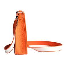 hermès evelyne mini bag tpm classic orange togo leather baghunter