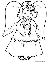 christmas christmas angel coloring