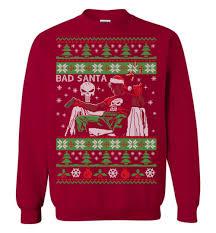 santa sweater bad santa the punisher sweater the wholesale t shirts