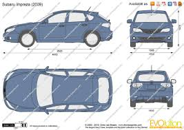 subaru van 2010 the blueprints com vector drawing subaru impreza