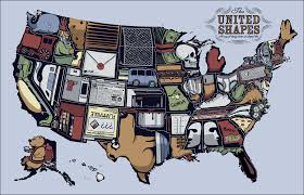 Huge Map Of The United States by United Shapes Large Png