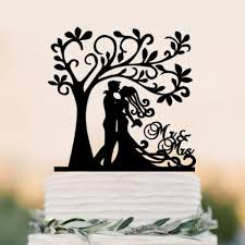 mrs and mrs cake topper acrylic groom cake topper mr mrs tree cake topper wedding