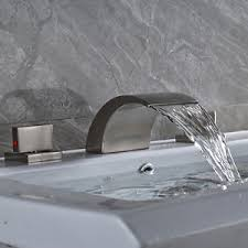 Widespread Bathroom Faucet Brushed Nickel Brushed Nickel Bathroom Faucet Widespread Ebay