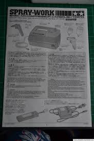 tamiya spray work basic air compressor w airbrush review gunbies