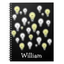 light bulb notebooks journals zazzle