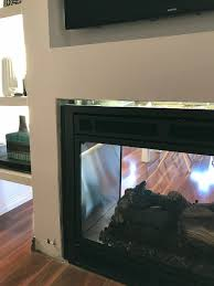 a double sided fireplace