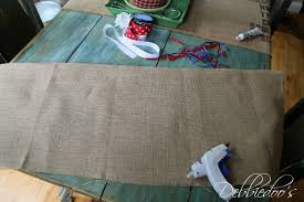 How To Sew Valance How To Make A No Sew Burlap Valance In A Jiffy Debbiedoos