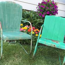 Metal Lawn Chair Vintage by Mid Century Vintage Metal Lawn Chair Cleveland Welding On Left