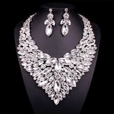 statement necklace white images Buy fashion luxury crystal jewellery statement jpg