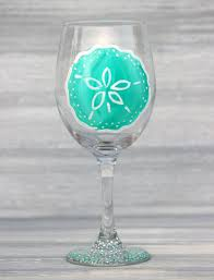 personalized sand dollars sand dollar wine glass bridesmaid gifts for wedding