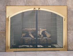 beautiful arched glass fireplace doors in masonry with custom to ideas