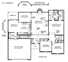 custom home floor plans custom built houses the cambridge st louis mo