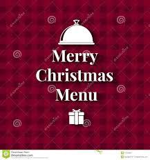 merry christmas dinner menu card stock vector image 47228287