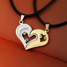 love heart choker necklace images 2 pieces set couple broken heart choker necklaces chokers pendants jpg