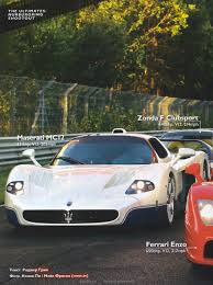 maserati mc12 red porsche 980 carrera gt vs ferrari enzo vs maserati mc12 vs zonda f