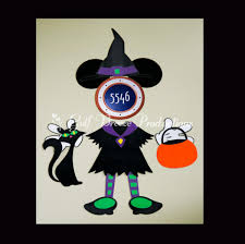 minnie mouse witch halloween magnet for cruise door by