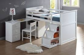 white loft bed with desk acme 19405 wyatt white loft bed with desk ladder and chest