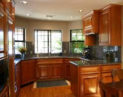 kitchen luxury small kitchen ideas with shiny wooden cabinetry