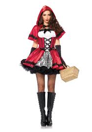 matching women halloween costumes gothic red riding hood costume